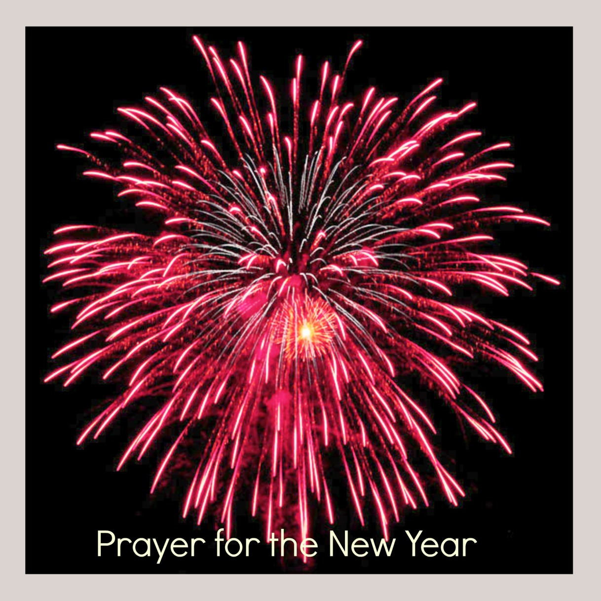 Prayer for the NewYear