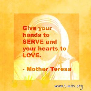 hands to serve