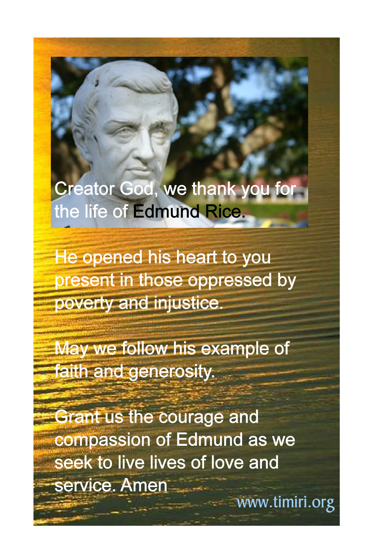 Edmund Rice Prayer