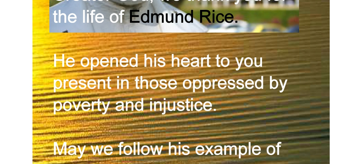 Edmund Rice Prayer